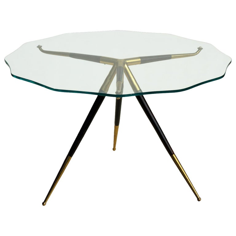1950s by Cesare Lacca Italian Design Midcentury Coffee Table For Sale