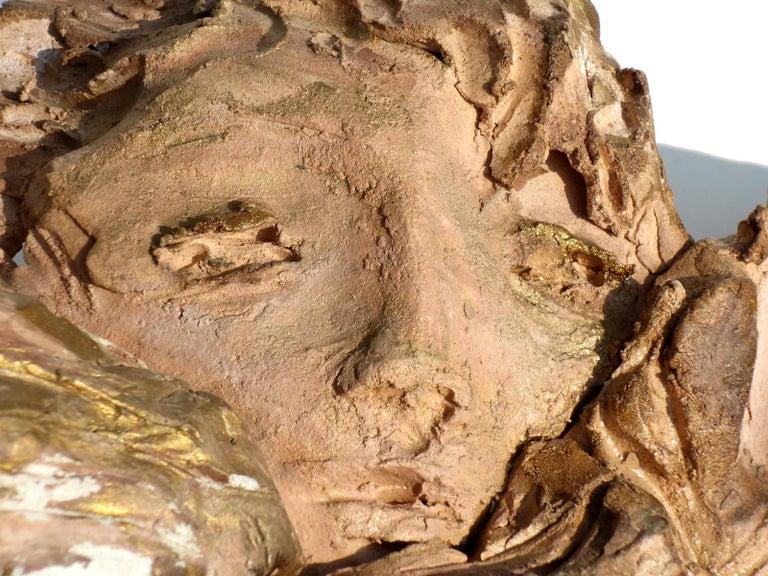 1950s by Francesco Messina Italian Sculpture Earthenware Angel For Sale 1