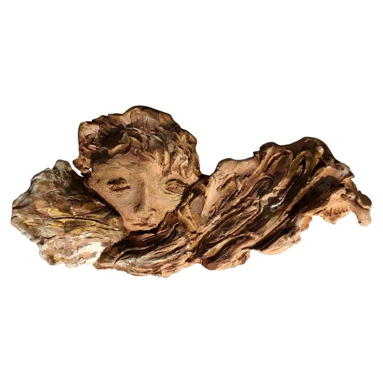 1950s by Francesco Messina Italian Sculpture Earthenware Angel For Sale