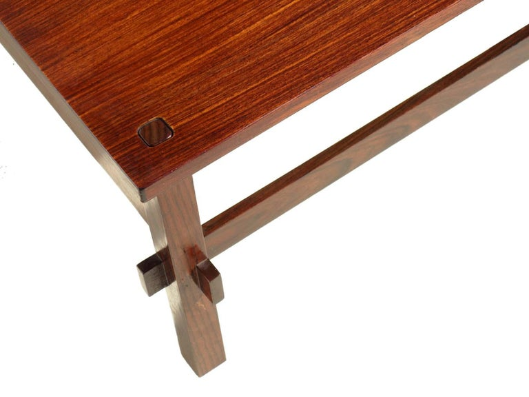 Wood 1950s by Frattini for Cassina Italian Midcentury Design 740 Coffee Table For Sale