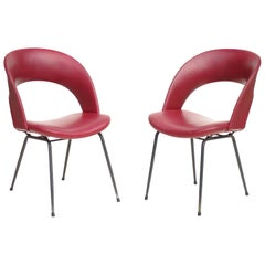 1950s by Gastone Rinaldi for RIMA Midcentury Italian Design Chair Set of 2