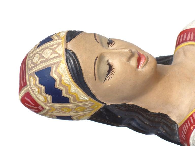 Mid-Century Modern 1950s by Paolo Loddo Dorgali Ceramic Figure For Sale
