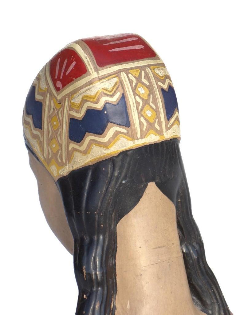 Mid-20th Century 1950s by Paolo Loddo Dorgali Ceramic Figure For Sale
