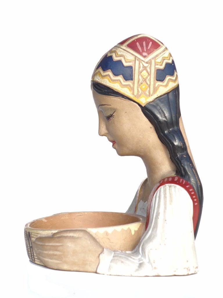 1950s by Paolo Loddo Dorgali Ceramic Figure For Sale 1