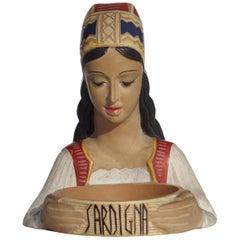 1950s by Paolo Loddo Dorgali Sardinia Italian Midcentury Ceramic Figure