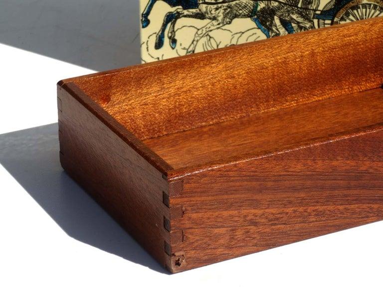 1950s by Piero Fornasetti Midcentury Italian Design Box In Excellent Condition For Sale In Brescia, IT