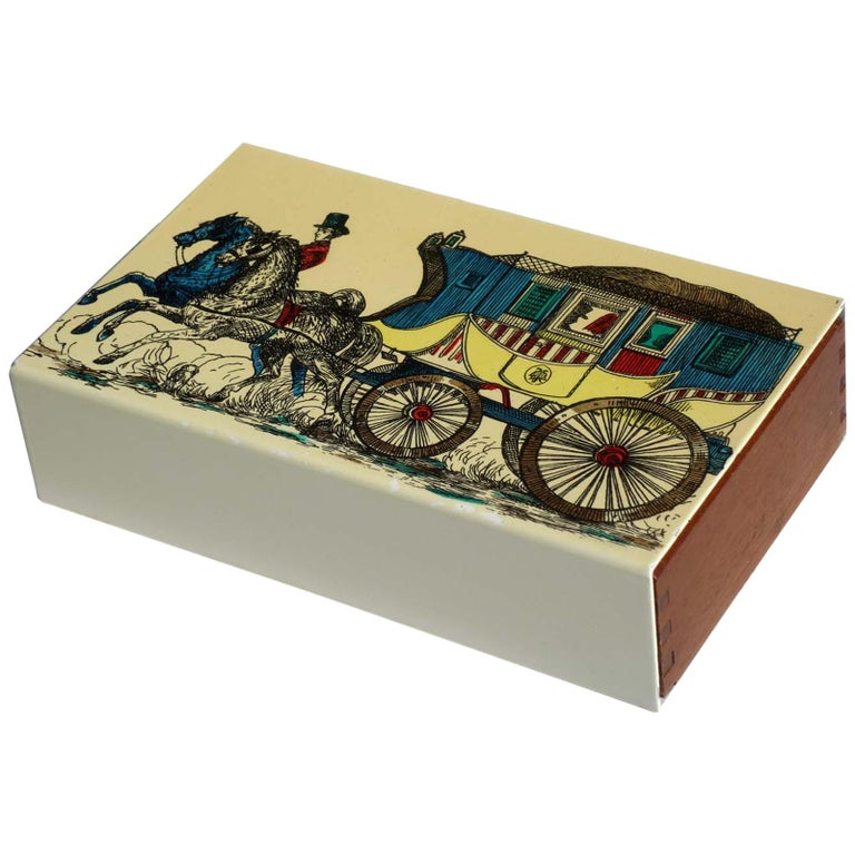 1950s by Piero Fornasetti Midcentury Italian Design Box For Sale