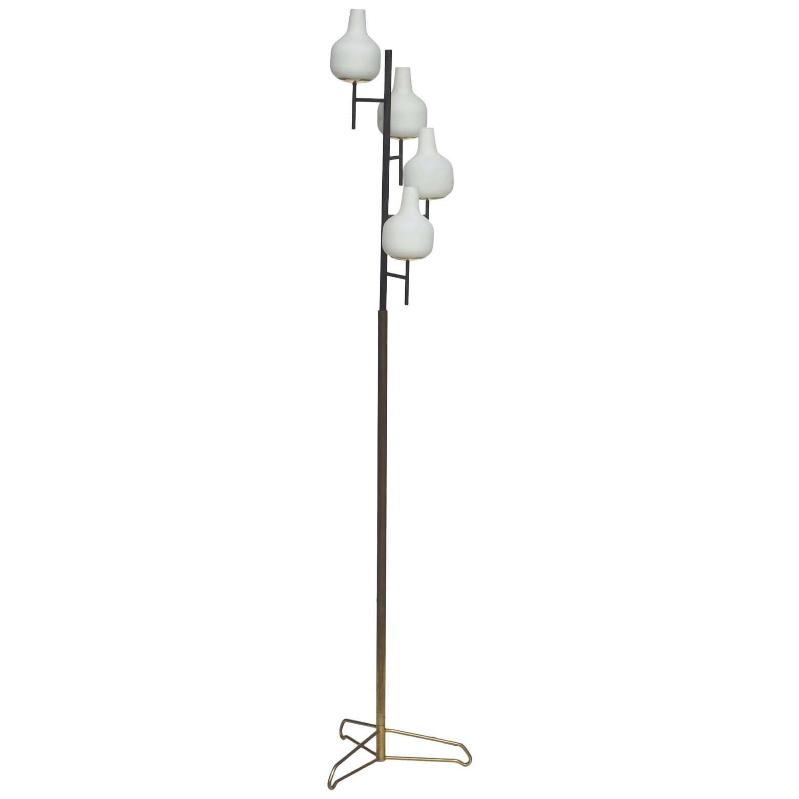 1950s by Stilnovo Italian Midcentury Design Floor Lamp