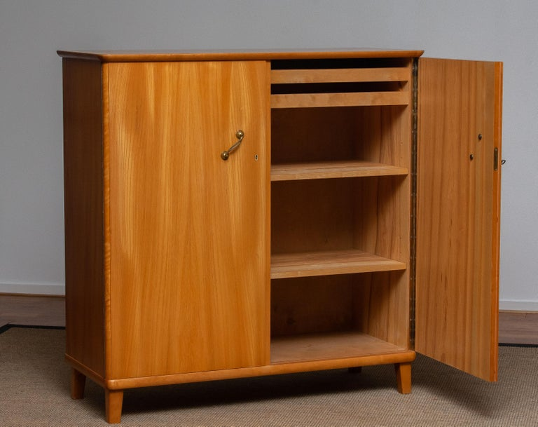 Swedish 1950s, Cabinet in Elm Made in Tibro, Sweden