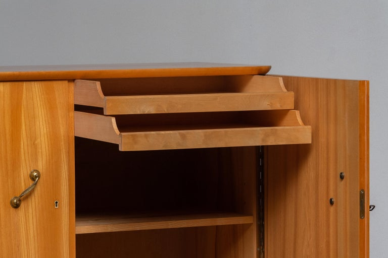 Mid-20th Century 1950s, Cabinet in Elm Made in Tibro, Sweden