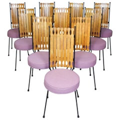 1950s California Modernism Arthur Umanoff design High Back Dining Chairs