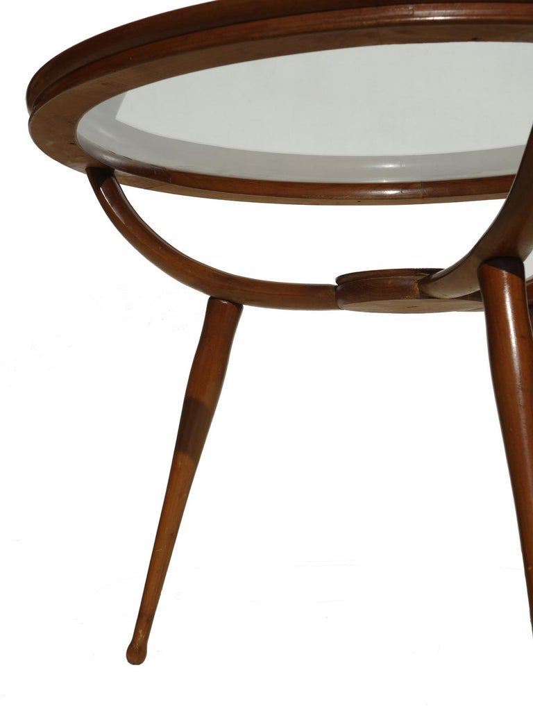 Mid-Century Modern 1950s Carlo de Carli Style Italian Design Midcentury Coffee Table For Sale