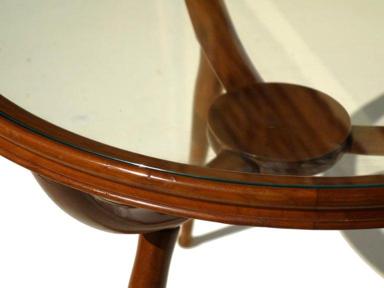 1950s Carlo de Carli Style Italian Design Midcentury Coffee Table In Excellent Condition For Sale In Brescia, IT