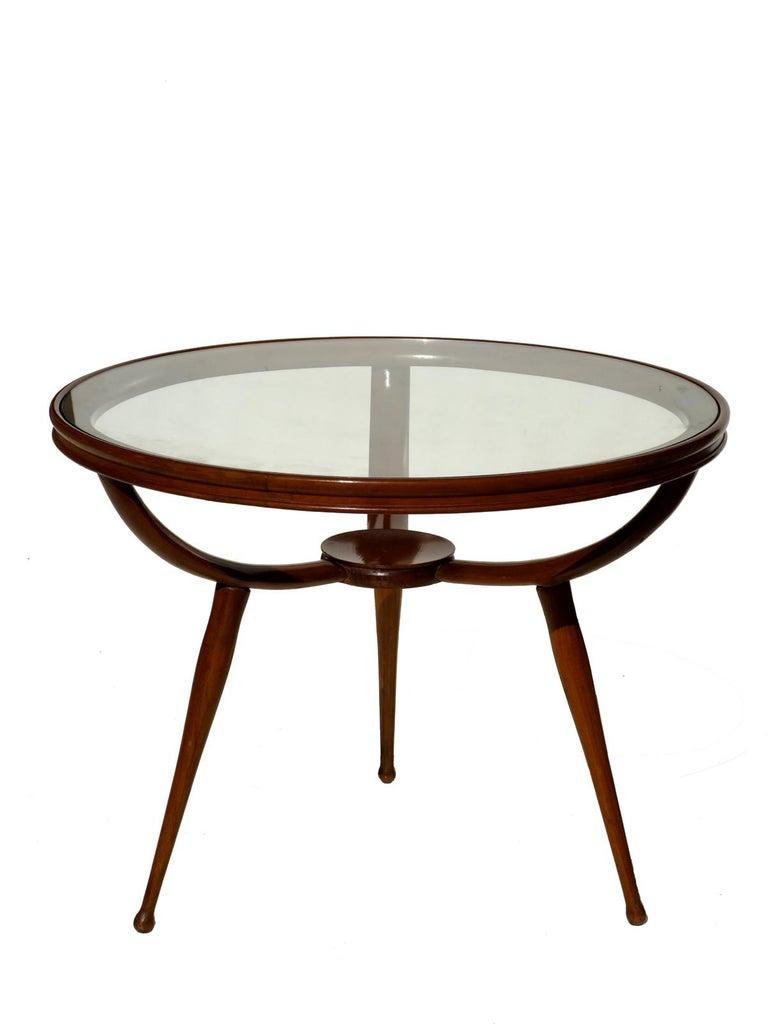 Mid-20th Century 1950s Carlo de Carli Style Italian Design Midcentury Coffee Table For Sale