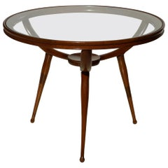 1950s Carlo de Carli Style Italian Design Midcentury Coffee Table
