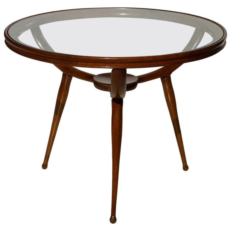 1950s Carlo de Carli Style Italian Design Midcentury Coffee Table For Sale