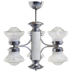 1950s Carlo Nason Chandelier with 6 Globes for Mazzega