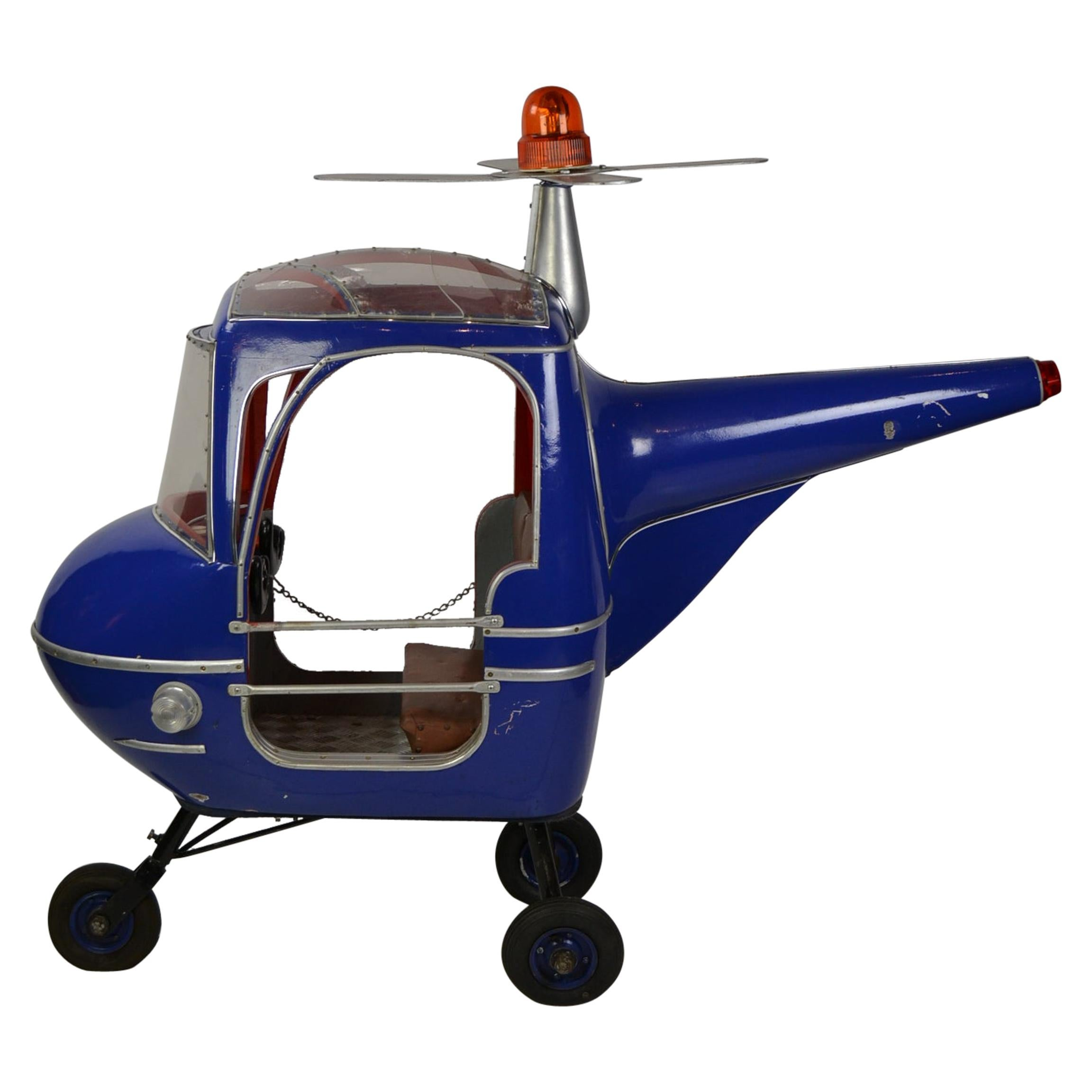 1950s Blue Carousel Ride Chopper by Hennecke, Germany, Wood and Metal