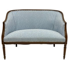 1950s Carved Mahogany Sheraton Style Settee, Two Available
