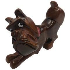 1950s Carved Wooden Bulldog Lighter