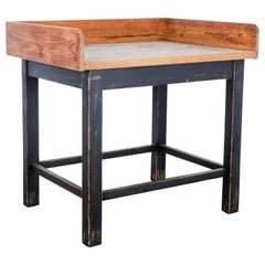 1950s Central European Wooden Patinated Bakery Table