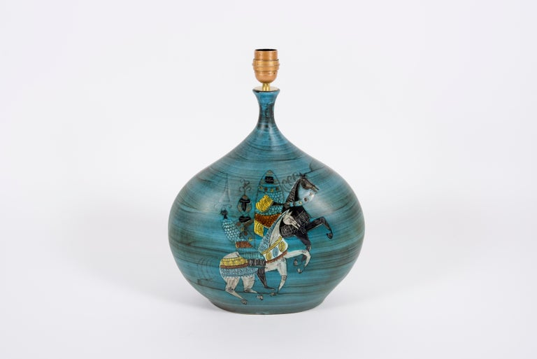 1950's Ceramic Lamp by Jean De Lespinas In Good Condition For Sale In Bois-Colombes, FR