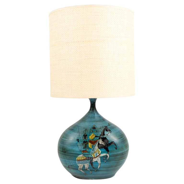 1950's Ceramic Lamp by Jean De Lespinas For Sale