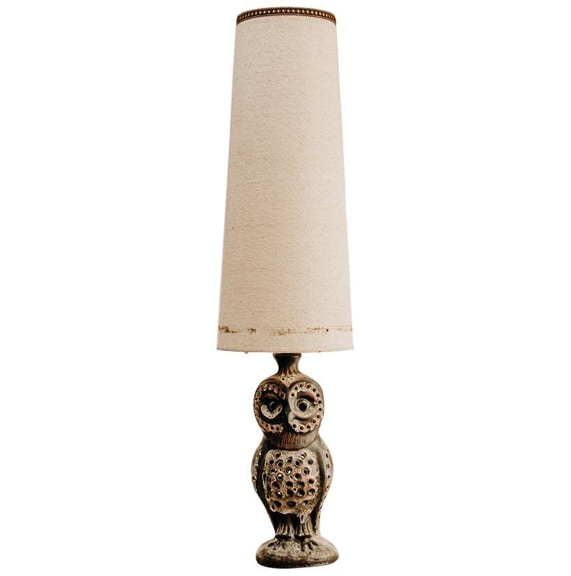 1950's Ceramic Owl Lamp