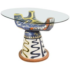 1950s Ceramic Table by Salvatore Meli
