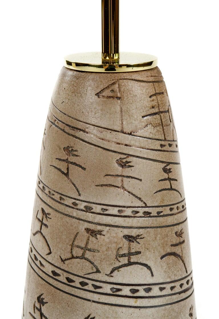American 1950s Ceramic Table Lamp by Nancy Wickham Boyd For Sale