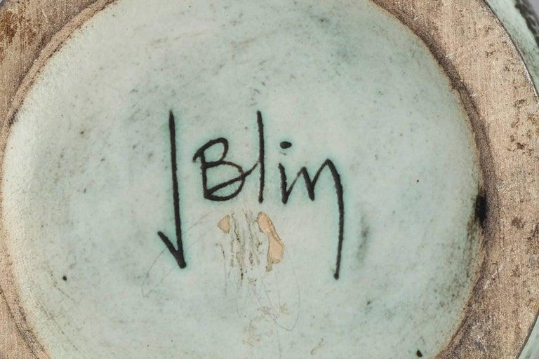 Glazed 1950s Ceramic Vase by Jacques Blin For Sale