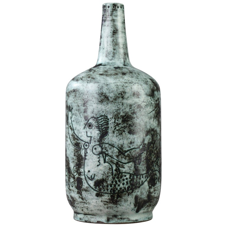 1950s Ceramic Vase by Jacques Blin For Sale