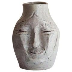 1950s Ceramic Vase Sculpture by Mexican Modernist Architect Manuel Parra