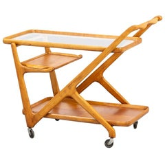 1950s Cesare Lacca Ceder Wood Thee Trolley for Cassina