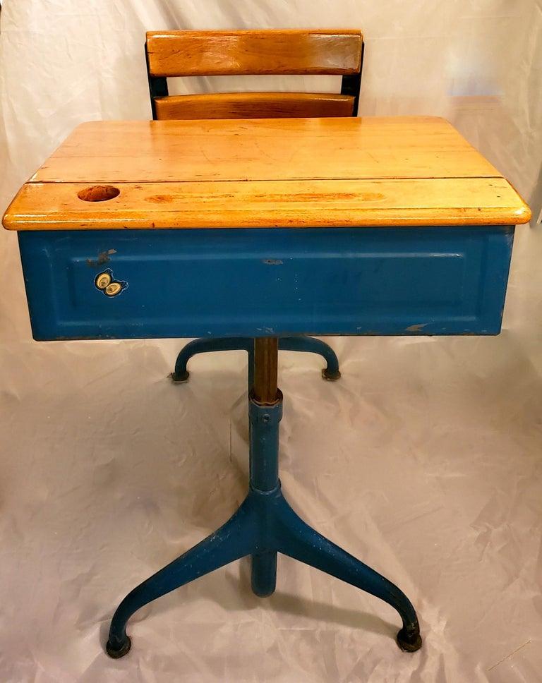 1950s Industrial Children S School Desk Chair