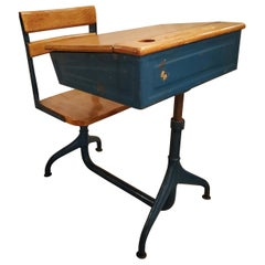 1950s  industrial Children's School Desk Chair
