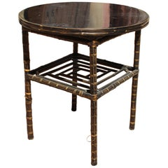 1950s Chinese Bamboo Side Table