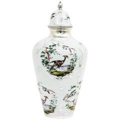 1950s Chinese Porcelain Lidded Vase