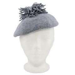1950s Christian Dior Grey Wool Beret