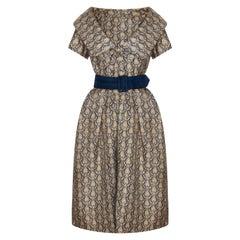 1950s Christian Dior London Modele Original Silk Dress