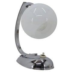 1950s Chrome Plated Table Lamp, Czechoslovakia