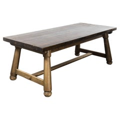 1950's Chunky French Tavern Table – Rectangular Dining Table