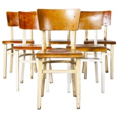 1950s Classic Elegant Bentwood Painted Dining Chair by Ton, Set of Six