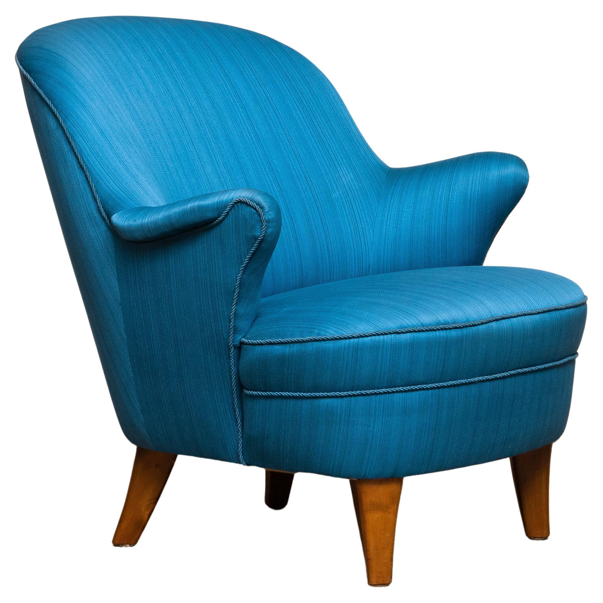 1950s Club / Lounge / Easy Chair in the Style of Otto Schulz Boet Sweden 1
