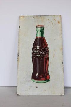 1950's Coca Cola Advertising Porcelain Sign