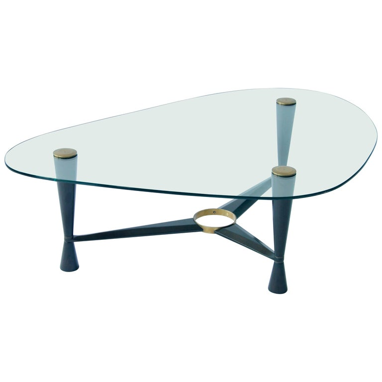 1950s Coffee Glass Top Coffee Table For Sale At 1stdibs