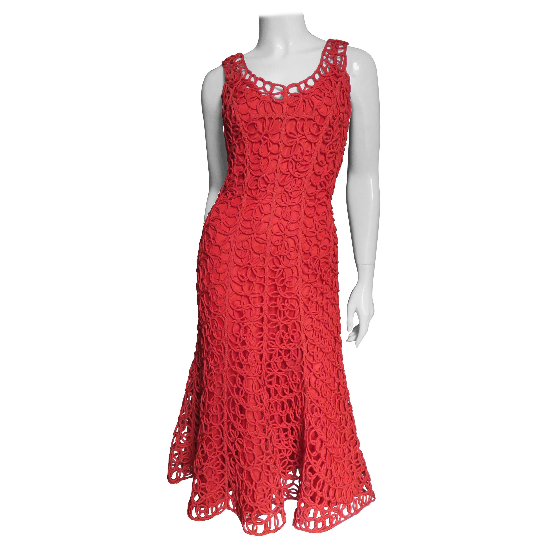 1950s Coil Applique Dress