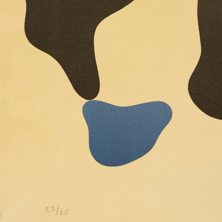 Modern 1950s Color Lithograph by Jean 'Hans' Arp For Sale