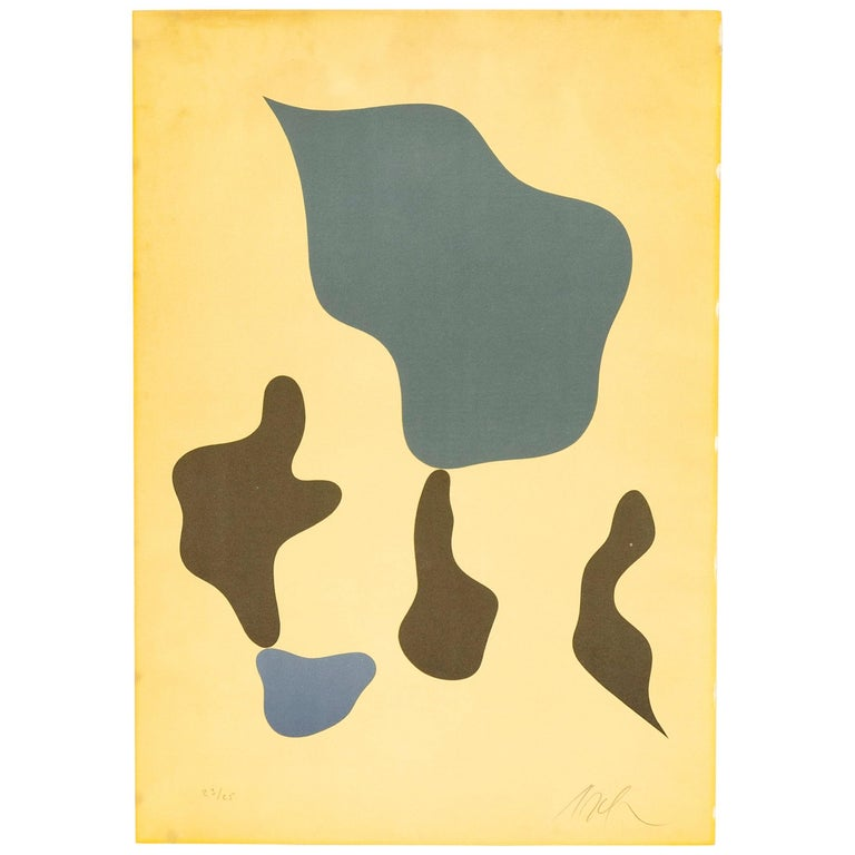 1950s Color Lithograph by Jean 'Hans' Arp For Sale