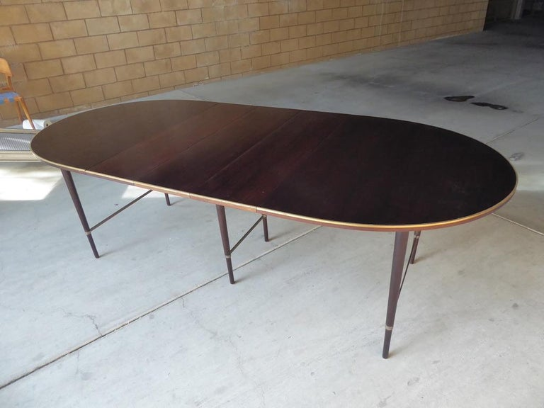 1950s Connoisseur Collection Mahogany Dining Table by Paul McCobb For Sale 4